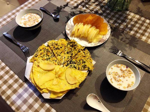 【口水】苹果鸡蛋饼/香葱芝麻鸡蛋饼,早晚餐打卡!