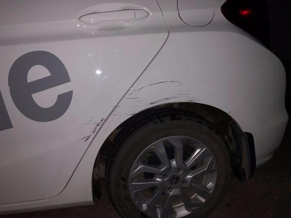 【心塞】因为懒,只开半边门,自己把自己车刮了!我只想静静!