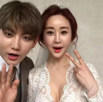 24岁中国网红富二代娶42岁韩国女星,公公一出手就是5个大红包!