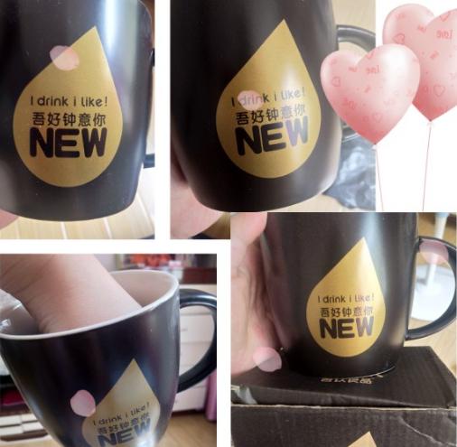喝柠檬茶送的这个杯子也太好看了吧!爱不释手哇!
