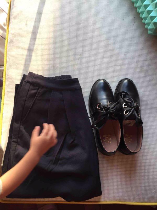 中商平价白菜,二楼拉夏贝尔阔腿裤111元,鞋子tata的两双300!