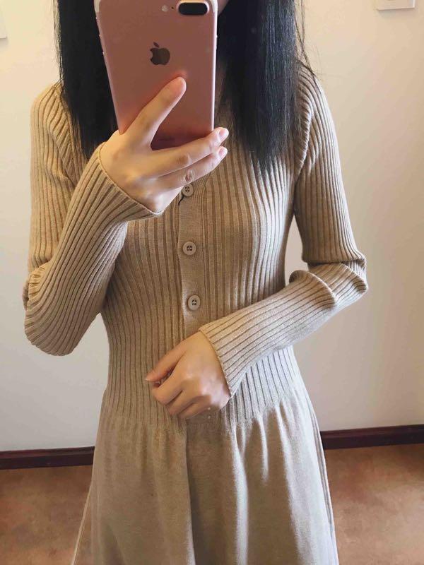 十月今天穿什么?秋冬系列的针织裙毛毛鞋正式出道!