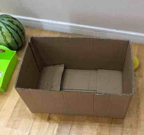 去光霞果批买了一箱苹果,一共30斤,其中箱子竟然就有四五斤重!