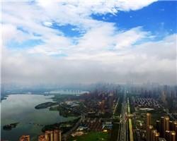 """真美预警!雨后的城市,无滤镜""""武汉蓝""""!接下来三天,继续晴!"""
