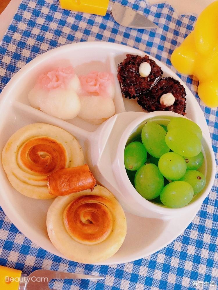 今天老公准备了可爱的早餐,很喜欢~被宠爱的感觉真好!