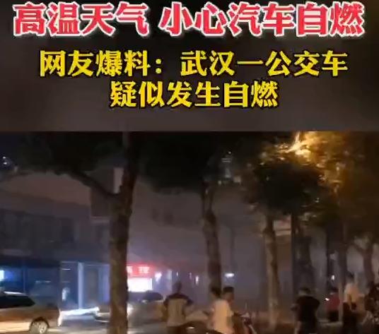 武汉一公交车自燃起火,警方:电瓶自燃导致!