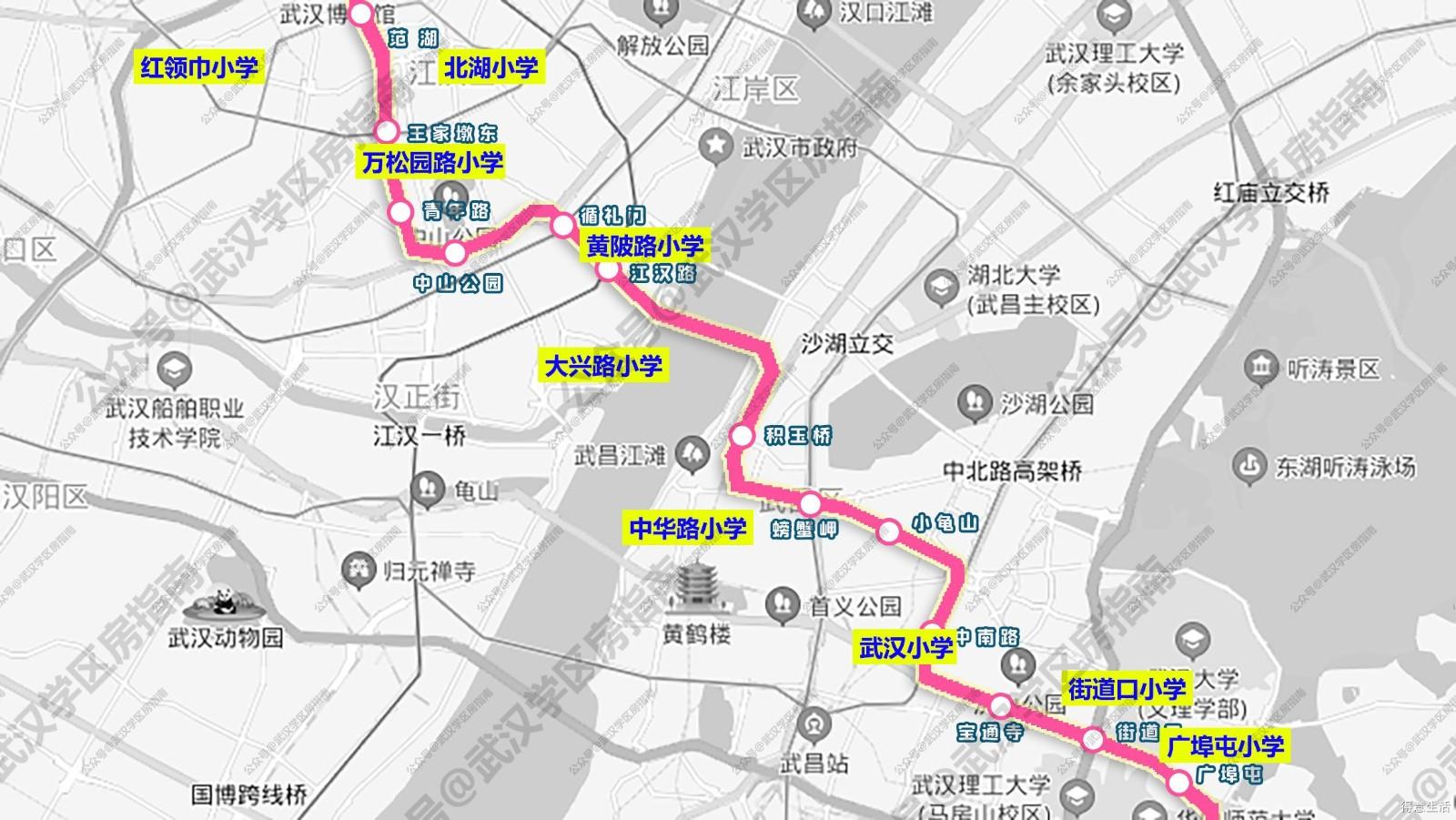 盘点武汉2号地铁沿线旁的优质学区房及价格!
