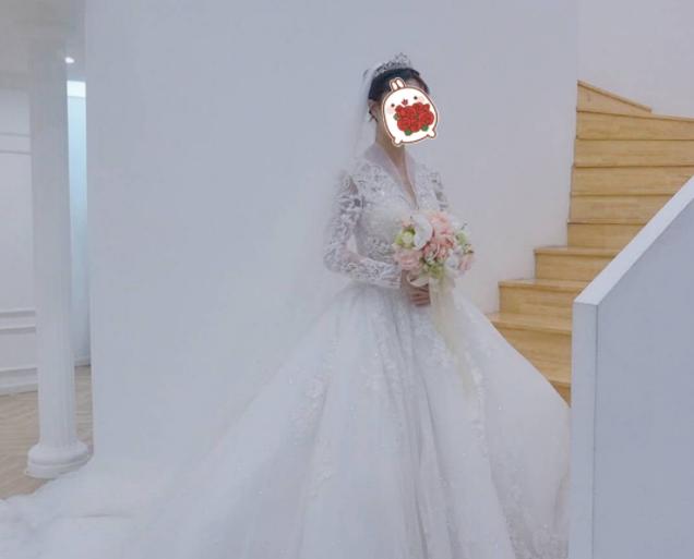 小个子新娘的第一次试纱分享,长袖款主纱真是气质满满!