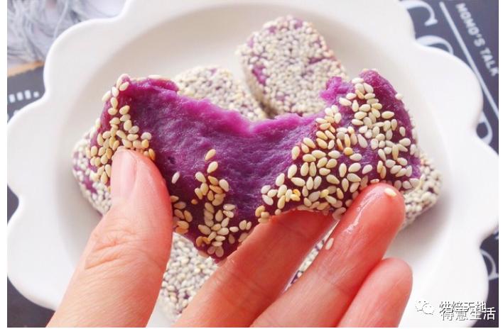 吃不胖!非油炸!无糖奶香紫薯软饼教程来了!