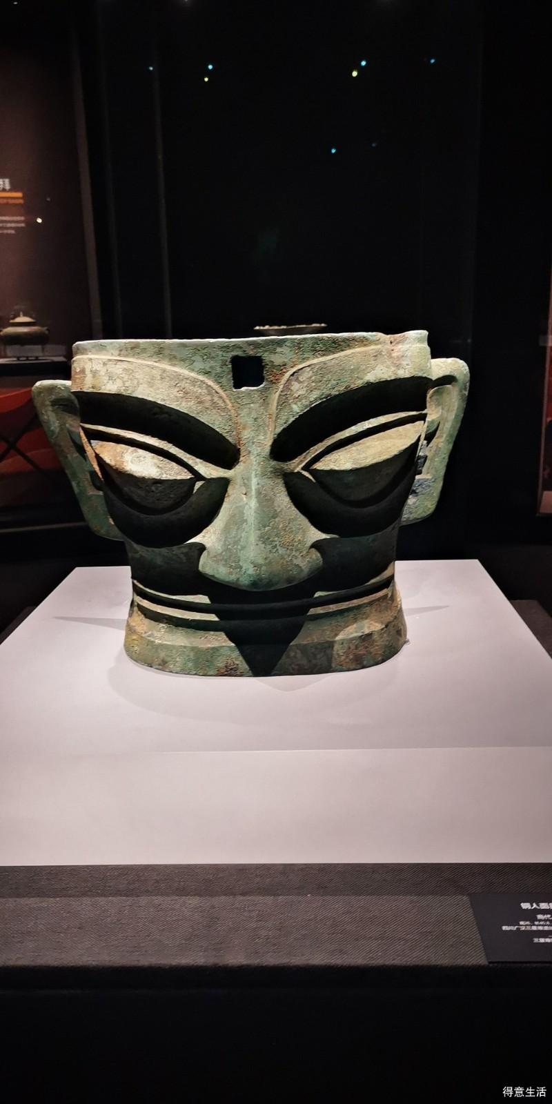 一个人游盘龙城遗址博物馆,近距离看三星堆面具很震撼!
